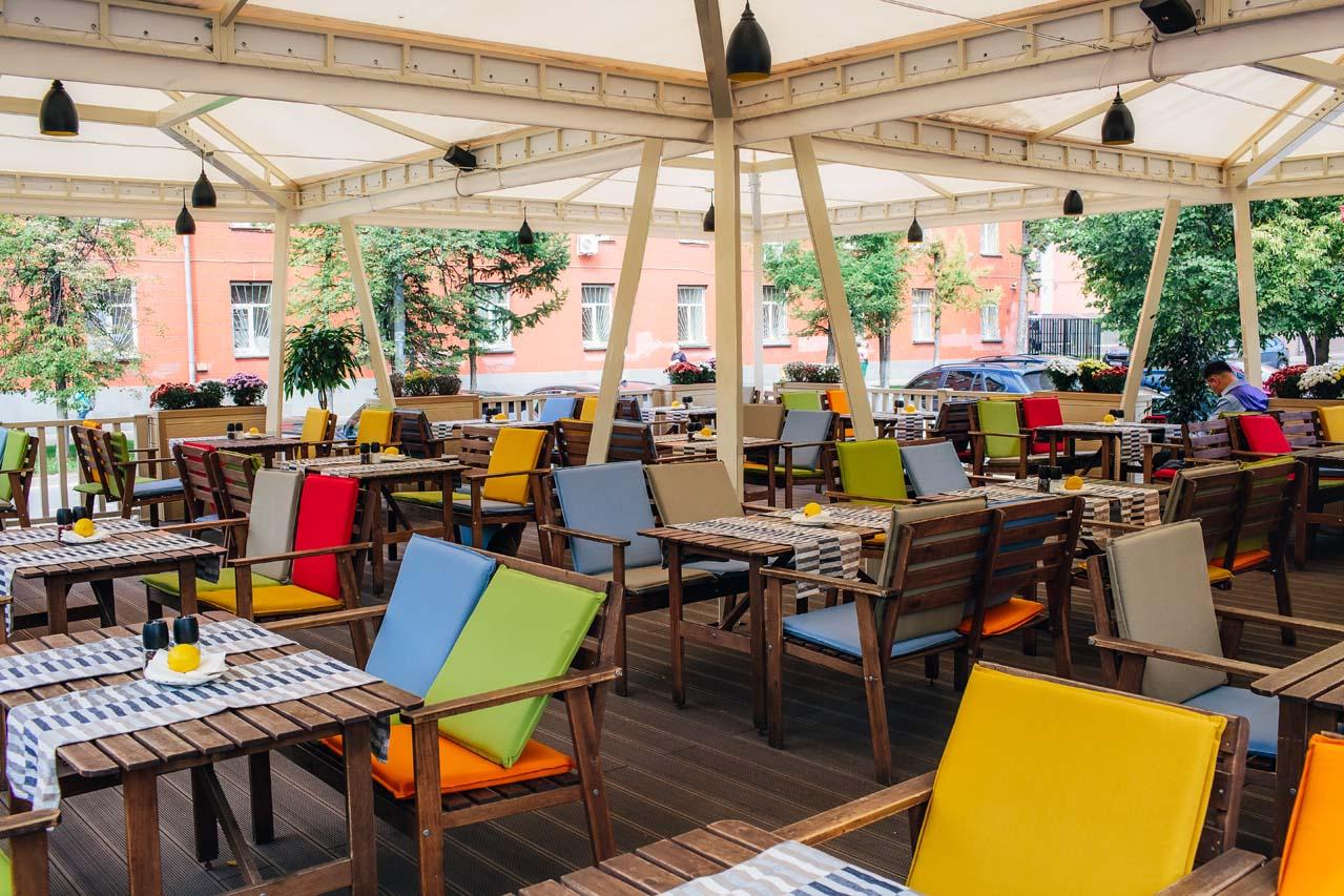 Кафе «Лемончелло» - строительство террасы и ограждений