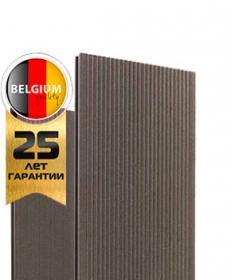 Террасная доска дпк полнотелая TWINSON MASSIVE 9360, 504 wood-brown, 4-6 метров