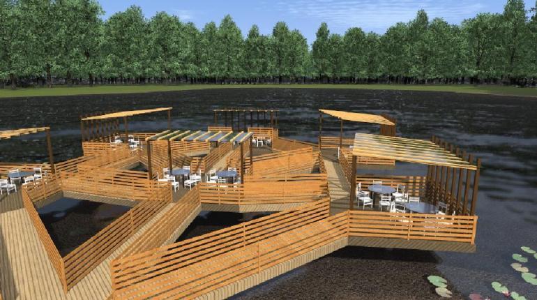 Кафе у озера